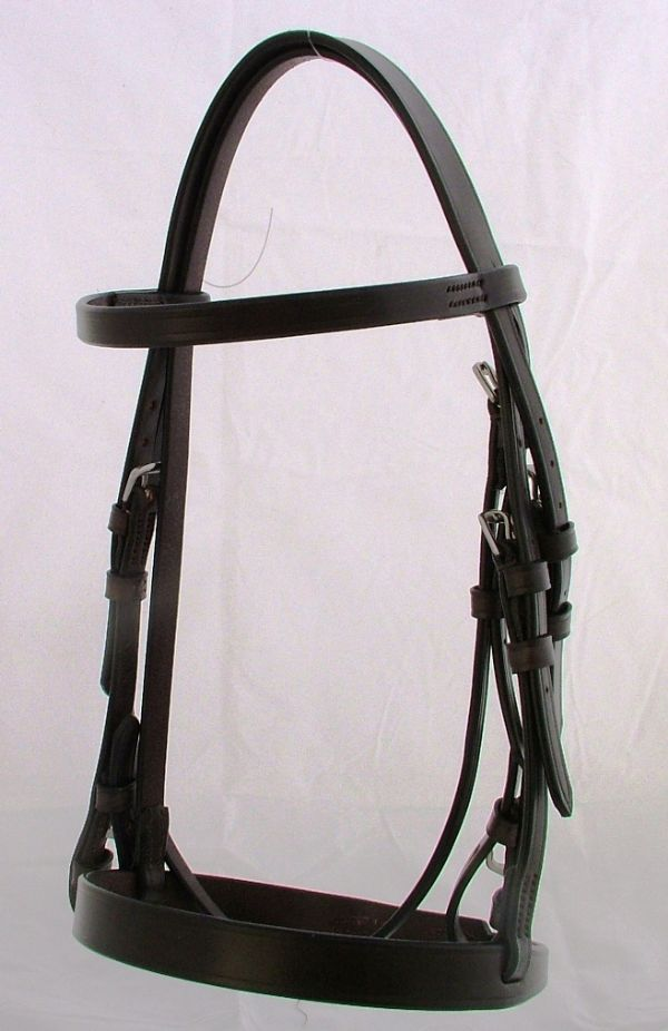 Wyvern Plain Small Pony Hunt Snaffle Bridle, Section A and Section B